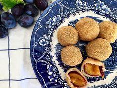 Austrian plum dumplings (Zwetschgenknödel)
