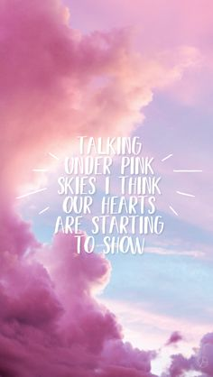 Pink Skies // LANY Sky Quotes, Lyric Quotes, Lany Lyrics, Sky Captions, Paul Jason Klein, Aesthetic Captions, Indie Pop Bands, Music Words, Movie Lines