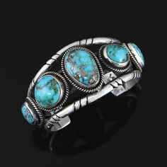 Cuff | Kimberly Willie (Navajo).  Sterling Silver, Natural Hidden Valley Turquoise