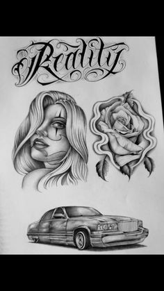 Angel Devil Tattoo, Angel And Devil, Girl Tattoos, Tatoos, Arte Lowrider, Girls Crown, Chicano Art, Tattoo Drawings, Prison