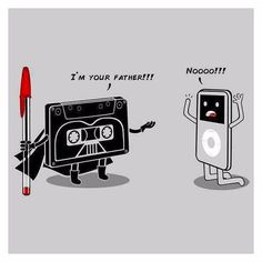 Anybody got tickets for tomorrow? #starwars #funny #illustration #oldschool #iamyourfather #lukeskywalker #darthvader #officesupplies