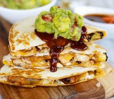 Hawaiian barbeque quesidillas
