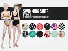 Lana CC Finds - pyanka:  Swimming suits;  It was supposed to be...