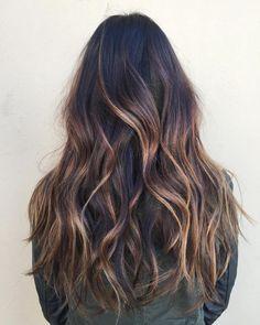 Brown Hair Cuts, Long Brown Hair, Thick Hair, Brown Hair Balayage, Brown Hair With Highlights, Caramel Highlights, Dark Balayage, Caramel Balayage Brunette, Color Highlights