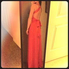 NWT MaxAzria coral pink backless evening gown BRAND NEW WITH TAGS gorgeous coral pink evening gown/prom dress by BCBG MaxAzria! Size 2 and fits true to size. 100% polyester. Sexy cut out back and super flattering fit. Very high quality formal dress! This is THE perfect dress for special occasions/formal events/weddings/proms... you name it!                                    I AM A TOP-RATED SELLER   I AM A FAST SHIPPER   I AM A TOP 10% SELLER  BCBGMaxAzria Dresses Maxi