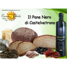 Pane nero di Castelvetrano. Con il lievito madre (lu criscenti) e Semola di grano duro siciliano integrale Locale, la Timilia o Tumminìa.