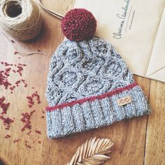Knitted hat from wool