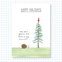 Holiday Greeting Cards - Snail