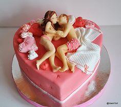 Valentine's Day Cake...sexy time! lol. OMG Joe always calls it sexy time