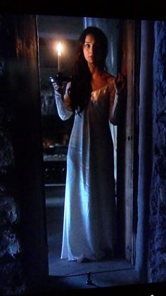"Reign Mary seeks out Clarissa (the castle's ""ghost"") LOVE the nightgown! I want one! :( lol"