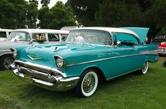 My dream car is a turquoise 1957 Chevrolet Bel-Air Sports Coupe. If I could own any car in the world, this would be it.