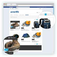 Ein Gesamtüberblick der Artikel des Shops, optisch ansprechend gestaltet und ermöglicht schnelles navigieren    www.zadego.de/commerce