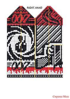 Варежки для агента 007 Mittens Pattern, Knit Mittens, Knitting Socks, Mitten Gloves, Fair Isle Knitting, Knitting Charts, Knitting Patterns, Cross Stitch Harry Potter, Knitting For Charity
