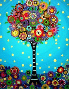 Tree art via Carol's Country Sunshine on Facebook