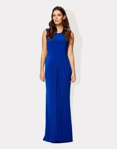 Ossie Clark London Blue jersey Broxash maxi dress- at Debenhams.com