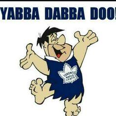 Hockey Live, Ice Hockey, Hockey Goal, Toronto Maple Leafs, Yabba Dabba Doo, Maple Leafs Hockey, Hockey Memes, Fred Flintstone, Goalie Mask