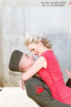 Anyone who manages to get their husband in Alphas and they dress vintage gets an extra surprise. Usmc Love, Marine Love, Military Love, Couple Photography, Photography Poses, Marine Photography, Military Couples, Military Weddings, Army Brat