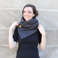 Quick, last-minute no-knit cowl - perfect for fall