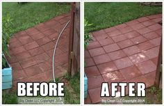 Pressure Washing the slate patio - before and after #bigclean ...