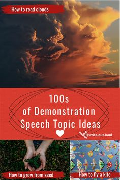100s of demonstration speech suggestions to help students find something just right from themselves. Demonstration Speech, Public Speaking Activities, Speech Outline, Confidence Building, Out Loud, Esl, Teacher Resources, Learn English, Lesson Plans