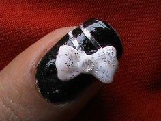 Nail art tutorial 3d bow nails polish nail designs ideas for beginners long nails to do at home