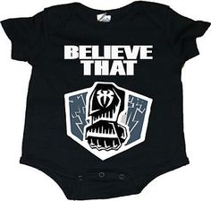 """Roman Reigns """"Believe That"""" With Punch WWE Baby Onesie Creepers"""