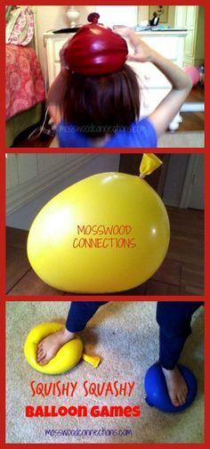 Squishy Squashy Sensory Balloon Games: easy activity for kids of all ages…