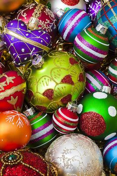 Pile of beautiful ornaments Photograph by Garry Gay