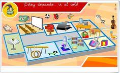 """""""¡Estoy deseando... ir al cole!"""" es un pequeño juego, de """"Internet en el Aula"""", para que los más pequeños identifiquen actividades, espacios y útiles que existen en el colegio."""