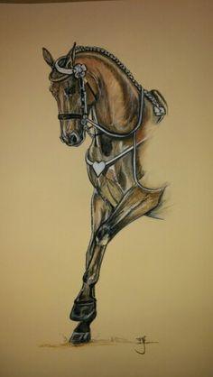 Cadre Noir horse art Chevaux