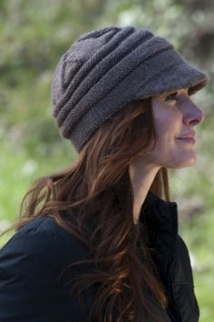 Free knitting pattern for Lana D'Oro Alpaca Knit Stalker Hat  Susie Bonell designed this modern take on the deer stalker hat.