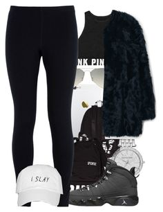 """""""Oui×Jeremih"""" by miyaaonfleek02 ❤ liked on Polyvore featuring Victoria's Secret, Michael Kors, Ray-Ban, MANGO, Retrò and NIKE"""