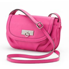 Rosetti Taylor Majestic Mini Crossbody Bag (Pink) ($20) ❤ liked on Polyvore featuring bags, handbags, shoulder bags, purses, pink, crossbody shoulder bags, shoulder strap handbags, pink handbags, mini crossbody purse and crossbody purse