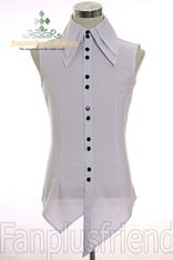 Last Chance: Gothic Punk Double-Layers Acute Collar Vest Shirt*Instant Shipping