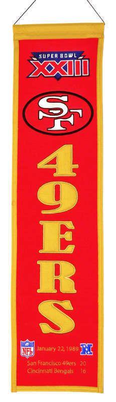 San Francisco 49ers Super Bowl XXIII Banner - Sportsfan