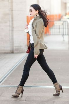 Boots/ I dress like an equestrian    Photos: Best-Dressed Street Style at New York Fashion Week Fall 2013 | Vanity Fair