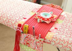 Cotton Way: Ironing Board Makeover Winner! Use my vintage boards for an embroidery table with hoop and then fold away!!