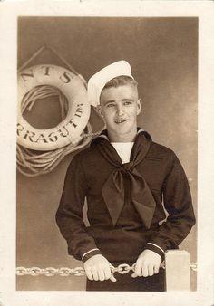 Portrait of Sailor, circa 1940s by boobob92, via Flickr