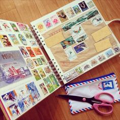 ehagakihana:  a notebook for collection of used stamps and beautiful envelopes I received