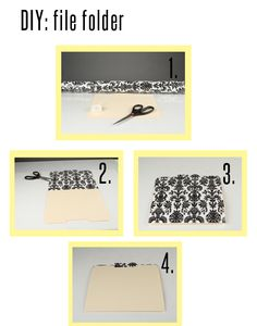 DIY file folder: click through for full directions! #DIY #file #organization