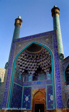 The Imam Mosque (AK: Masjed-é Shah) of Esfahan, Iran -  is one of the everlasting masterpieces of architecture in Iran and all over the world.  It is regarded as one of the religious and national glories of the country being registered as a cultural remain, together with the complex of Naqsh-e Jahan square, by UNESCO.