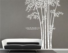 Large tree wall decal Bamboo wall decal Large by HomeDecorZone