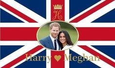 £6.97 GBP - Royal Wedding Prince Harry And Meghan Markle Flag 5 X 3 Ft - Uk Union Jack #ebay #Collectibles