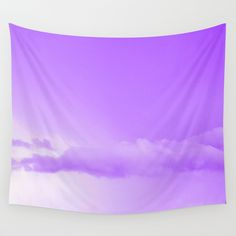 Purple Cotton Candy Clouds Wall Tapestry