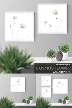Elegant grey ink wash drawings of cosmos flowers for your bedroom or living room. Visit my Etsy store to shop my range of wall art prints and print sets inspired by African nature. #ideas #layout #livingroom #bedroom #ideaslivingroom #eclectic #art #boho #staircase #stairway #blackandwhite #abovecouch #small #ideasbedroom #blackframes #diningroom #hallway #DIY #etsy Cosmos Flowers, Flowers For You, Diy Room Decor, Wall Art Decor, Wall Art Prints, Grey Wall Art, Plant Drawing, Ink Wash, Hanging Pictures