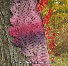 ABC Knitting Patterns - Tulip Reverie Shawl