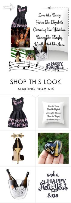 """""""New Year Wishes"""" by andrea-pok on Polyvore featuring WithChic, Oscar de la Renta, LSA International, cool, happy, party and newyear"""