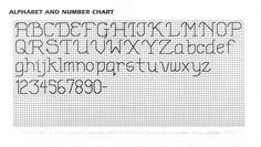 letras lineales punto cruz - Buscar con Google