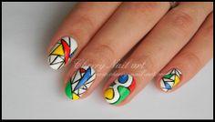 nail art geometrique logo google
