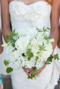 White & Green Bouquet just elegant!